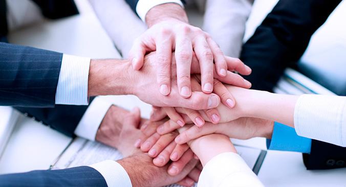 Mãos Equipe